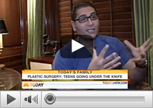 Dr. Rizk discusses about Teenage Rhinoplasty on NBC's Today Show