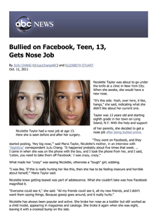 Bullied on Facebook